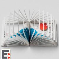 日本语 360°BOOK 富士山立体创意图书 日本富士山 日本立体书