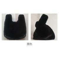 新款韩版时尚仿獭兔毛皮草手提包袋可爱毛毛绒包包女托特包潮