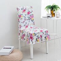 家用弹力椅子套凳子罩餐桌椅办公座椅酒店椅连体背套简约布艺