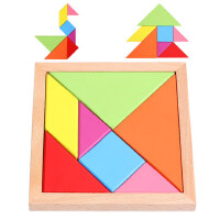 七巧板智力拼图儿童古典玩具小学生创意几何形状积木益智巧板拼板