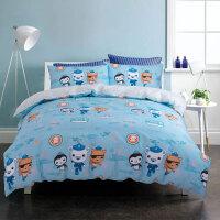 四件套全棉纯棉男孩海底小纵队被床单1.2m儿童床上用品三件套