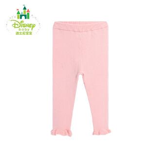 迪士尼Disney女童打底裤弹力女宝宝裤子休闲百搭秋春秋164K730