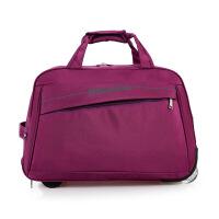 新款女士拉杆包轻便大容量旅行袋行李包出差包可折叠拖包商务百搭多功能手提包斜跨水桶包