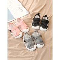 小童软底鞋包头幼儿鞋女宝宝夏季凉鞋男童1-2岁半婴儿学步鞋子