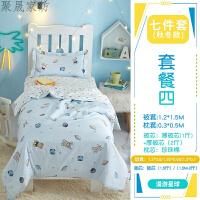 幼儿园被子三件套纯棉含芯六件套儿童被褥床上用品宝宝入园午睡被