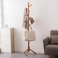 【满减】ORZ 40MM粗桉木8挂衣架 木制时尚卧室衣帽架易安装室内衣服挂架