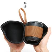 旅行便携茶具快客马克水杯陶瓷带盖泡茶过滤花茶办公室家用