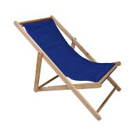 沙滩椅折叠躺椅实木牛津帆布椅躺椅靠椅户外便携午休木质躺椅