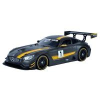 1:24汽车模型仿真 合金 奔驰 车模玩具跑车模型 奔驰AMG GT3改装黑色盒装 长18宽9高6