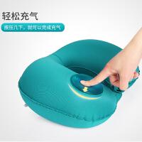 飞机靠枕旅行枕头护脖子护颈枕旅游便携按压式自动充气U型枕