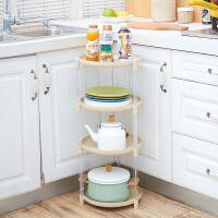 圆形锅具置物架落地多层调料架 厨房台面调味品储物架碗碟收纳架