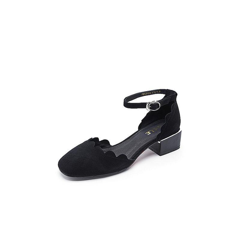 Belle/百丽春季专柜同款羊绒皮女皮凉鞋R2B1DAK7