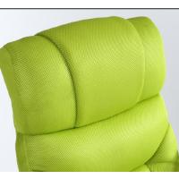 时尚休闲椅躺椅电脑椅懒人沙发家用实木可躺沙发椅午睡美容体验椅 绿色 网布