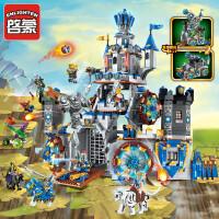 启蒙积木男孩拼装玩具儿童拼插骑士团城堡幻影荣耀模型6-7-8-10岁