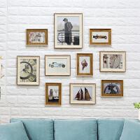 家居生活用品宝宝相框墙美式照片墙创意个性现代简约客厅相框挂墙公司装饰组合