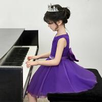 女童公主裙小花童蓬蓬裙钢琴演出服生日晚礼服小女孩裙子