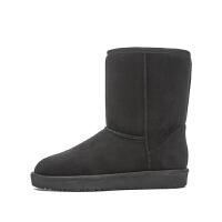 2018年冬新款潮流时尚女士雪地靴休闲圆头中筒靴