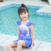 儿童泳衣女孩宝宝连体游泳衣中大童公主女童裙式小孩泳装