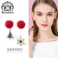 皇家莎莎925银针耳钉韩国耳饰耳环女气质网红个性耳夹时尚首饰品