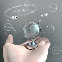 迷你地球仪摆件ins风透明水晶玻璃球*物创意可爱桌面书桌装饰