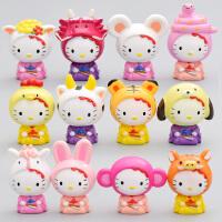 hello kitty12生肖 十二生肖 hello kitty 公仔凯蒂猫KT猫摆件玩偶 摆件手办kt玩偶蛋糕装饰品