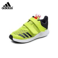 阿迪达斯adidas童鞋18新款儿童运动鞋中童跑步鞋男女童透气网面防滑休闲鞋(5-15岁可选) CP9521