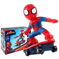 正版全美超凡蜘蛛侠滑板车 充电版旋转翻滚滑不倒儿童特技遥控车 蜘蛛侠奇特滑板车M021