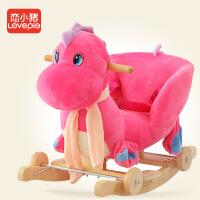 儿童木马宝宝摇马婴儿玩具周岁礼物带音乐实木两用大号摇椅