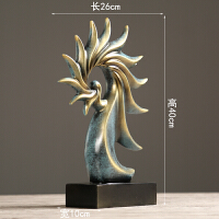 美式复古海螺摆件家居饰品 客厅电视柜酒柜工艺品创意礼物摆设 兰色海螺摆件