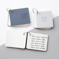 创意云木杂货空白随身记忆卡迷你便携备忘学习外语复习单词本子