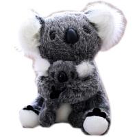 可爱考拉树袋熊毛绒玩具公仔母子熊子布娃娃儿童情人节礼物