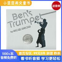 #现货 Ben's Trumpet 本的小号 进口英文原版绘本 凯迪克大奖银奖绘本 美国Top100百本必读 追求梦想 平装 送音频