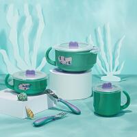 宝宝注水保温碗儿童餐具婴儿碗勺套装辅食碗不锈钢吸盘碗