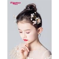 女童发饰公主韩式淑女百搭女孩发卡儿童头饰粉色花朵头花表演发夹