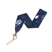 创意星球珍珠手机丝巾挂绳挂脖吊绳苹果XSMax通用指环可拆卸女款 【珍珠】长 蓝色星球