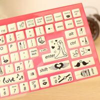 笔记本键盘贴 泡棉 笔记本电脑美容贴纸 台式通用卡通按键贴 随机款式