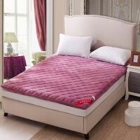 法兰绒加厚保暖床垫单人学生宿舍1.2米床垫双人寝室床垫子垫褥
