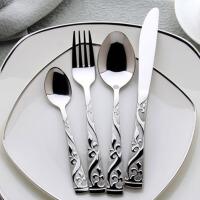 西餐具刀叉套装不锈钢牛排刀叉勺四件套西餐餐具套装