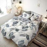 四件套冬季加绒加厚a面纯棉全棉b面水晶绒床单被套三件套床上用品