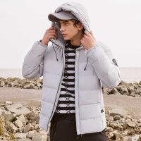 【2件1.5折价:74.9,可叠券】美特斯邦威羽绒服男冬季潮流韩版保暖学生短款连帽男外套