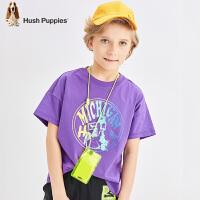【2件5折:86元】暇步士童装男童短袖T恤夏季新款儿童圆领衫炫彩图案套头上衣