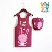 ?儿童围裙画画衣防水无袖背心式宝宝罩衣薄款幼儿园美术用绘画夏季