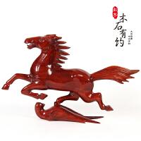 红木工艺品马踏飞燕 木雕马 实木质12十二生肖马风水摆件木马
