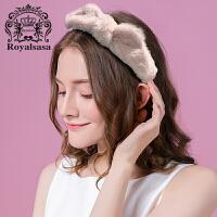 皇家莎莎发带洗脸韩国头饰网红可爱猫耳朵束发带甜美简约洗漱发箍