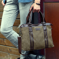 男包 帆布包公文单肩包商务手提包斜挎旅行复古电脑休闲男士包袋