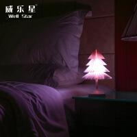 圣诞树夜灯 创意usb充电台灯 七彩梦幻氛围灯小夜灯礼物