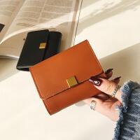 短款女士钱包2018新款日韩版简约可爱零钱包大钞夹搭扣学生小钱包