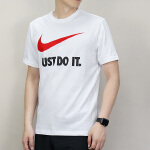 Nike耐克2018年新款男子舒适透气 SWOOSH JDI 圆领短袖T恤BQ0593-010