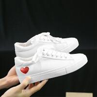 春季新款网红小白鞋女内增高帆布鞋女韩版百搭学生鞋休闲板鞋