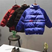 韩版17冬季新款男童女童加厚糖果色棉袄儿童保暖外套B4-T23